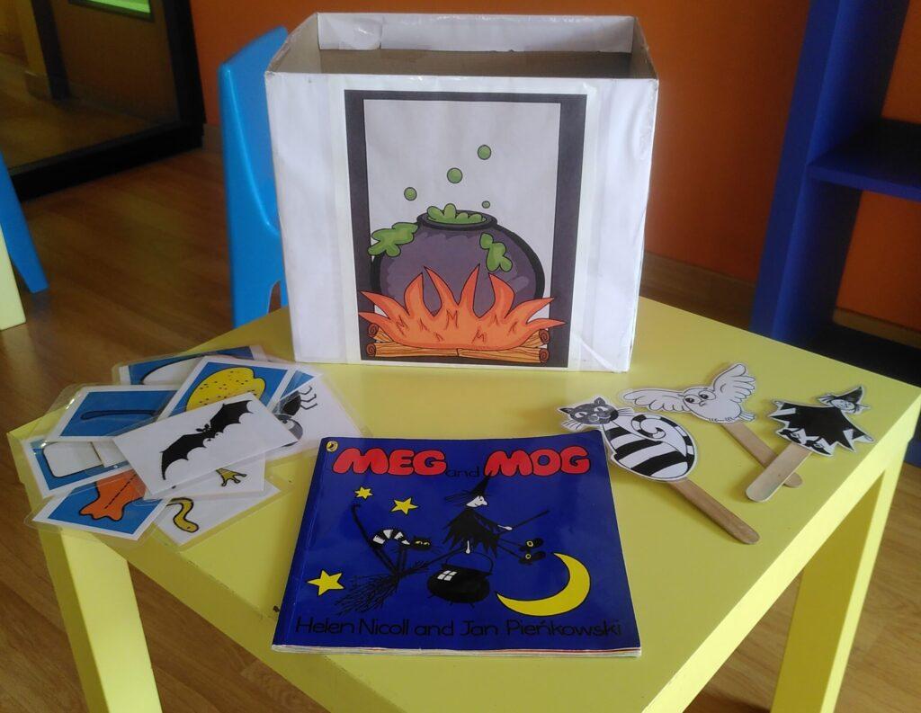 materiales para una clase de inglés para niños de tres a cinco años